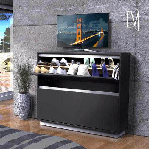 zapatero botinero 20 pares reforzado para mesa tv led 55