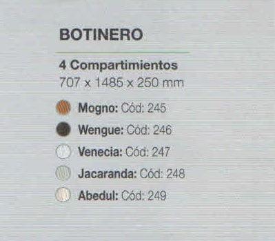 zapatero botinero 4 compartimientos varios colores orlandi