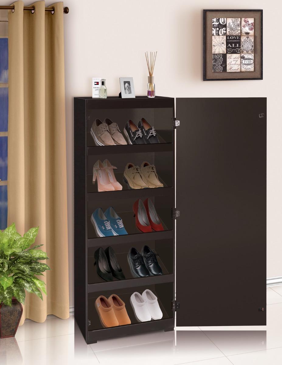 Zapatero con espejo san marcos 1 en mercado libre for Mueble zapatera hasta 32 pares zapatos