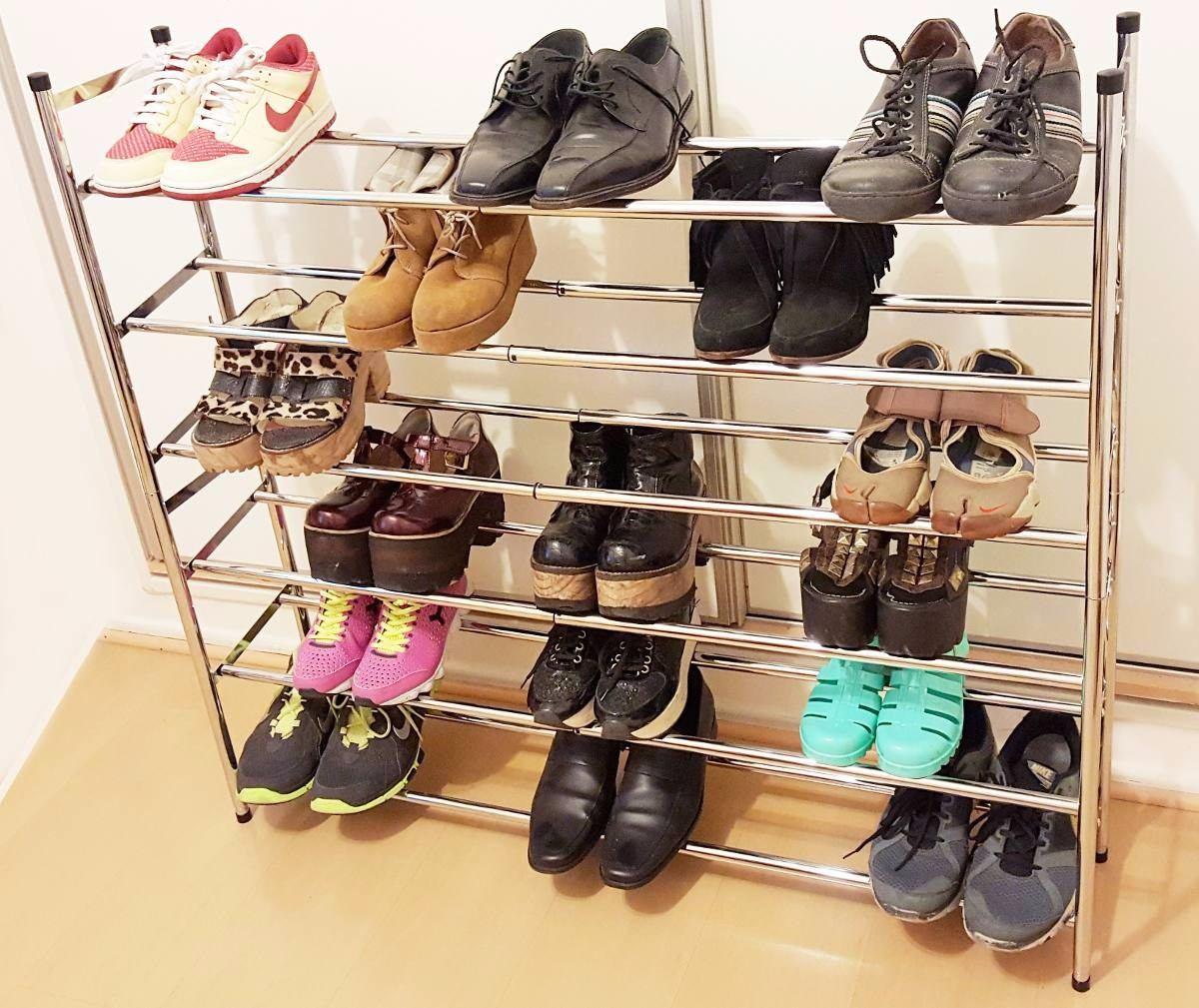 Zapatero De 6 Pisos Para 30 Pares Mueble Zapatos Botinero  # Muebles Para Zpatos