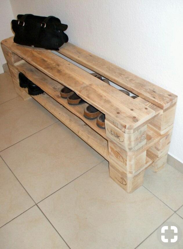 Zapatero de madera estilo palet en mercado libre - Schuhschrank aus paletten ...