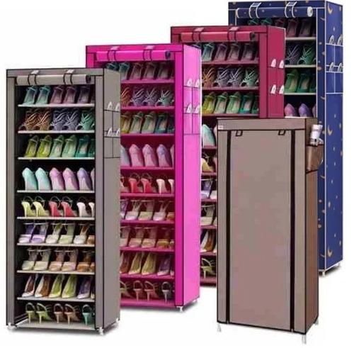 zapatero organizador de zapatos 6 pisos 12  pares con fundas