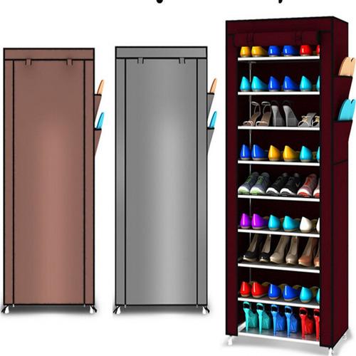 zapatero organizador de zapatos 9 pisos 30 pares con funda