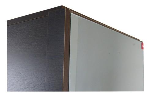 zapateros botinero con estantes multiuso 1 puerta con espejo y ruedas - 1424