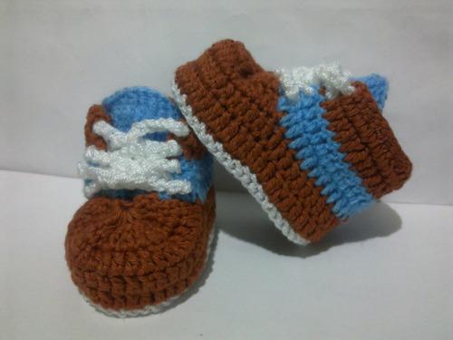 zapaticos zapatillas tejidas botas de niño bebe varon hombre