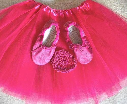 zapatilla 1/2 punta + malla ballet + pollerin o tutu + media