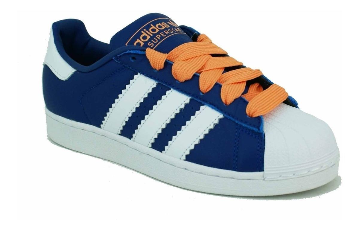 Zapatilla Adidas Originals Superstar AzulBlancoNaranja