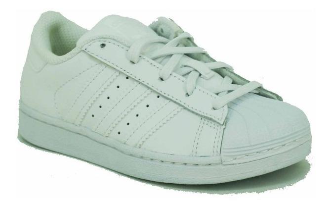 Zapatilla Adidas Originals Superstar BlancoAzul Niño Deporfan