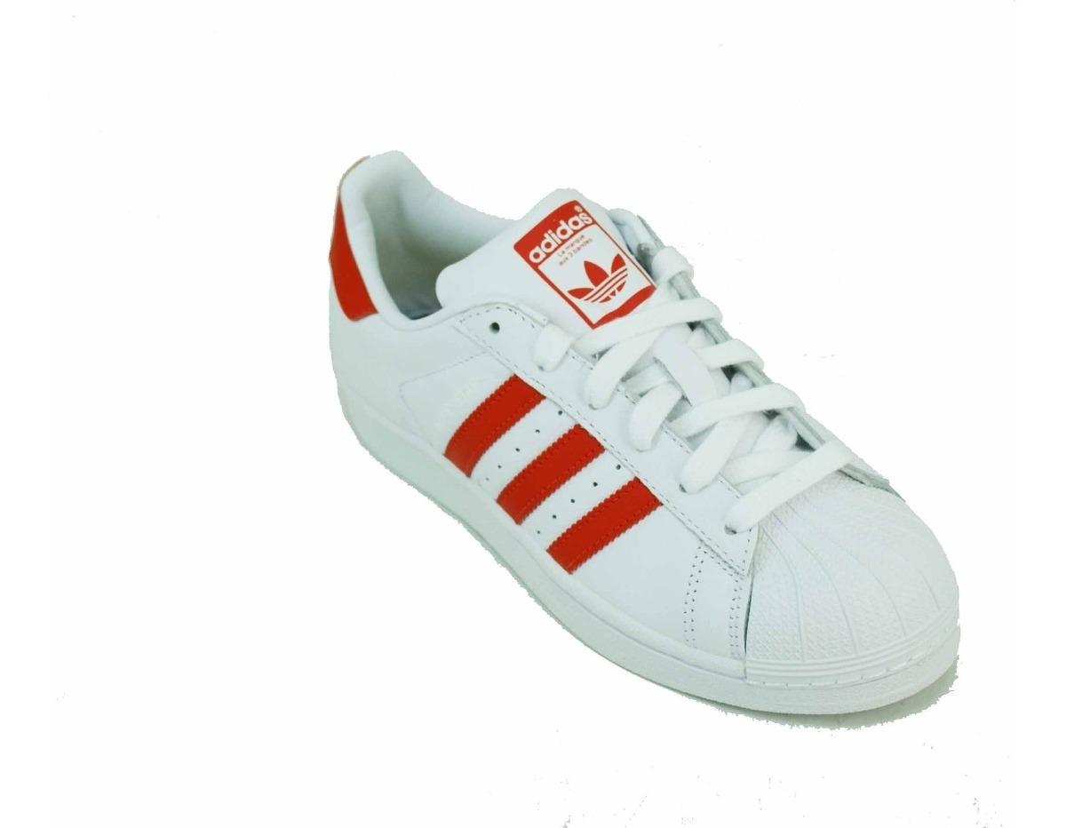 Zapatilla adidas Ori Superstar Blanco/rojo Dama Deporfan