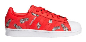 zapatillas adidas superstar blancas rojas