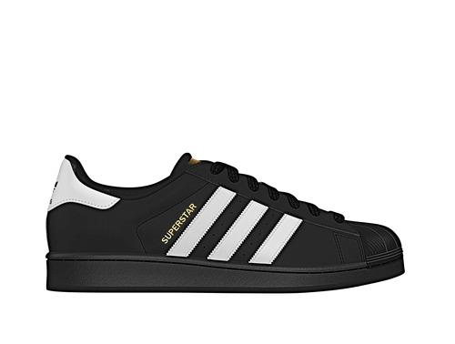 zapatilla adidas superstar foundation hombre negro b27140