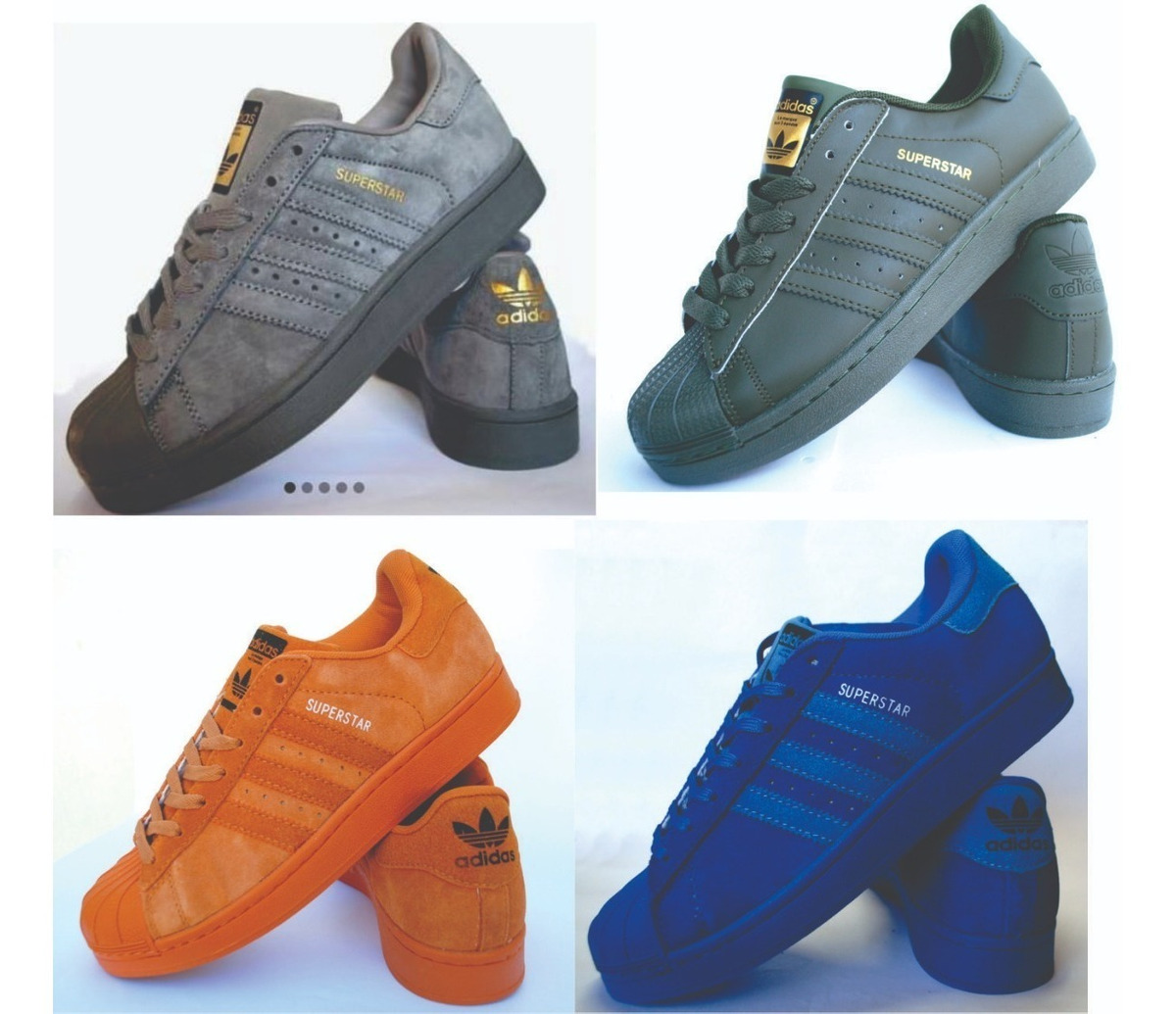 Superstar adidas Y Cuero Colores Gamuza Zapatilla oBWCerxd