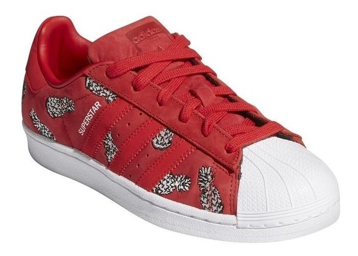 zapatillas adidas superstar mujer rojas