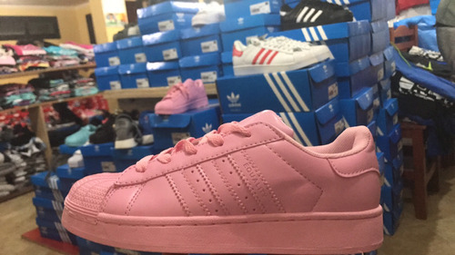 zapatilla adidas superstar rosadas
