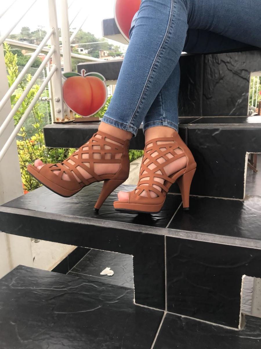 zapatilla alta de mujer lazer de tacon miel mujeres moda. Cargando zoom. 24b6274242d1