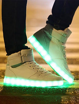 zapatilla alta led recargable!! 11 juegos de luces