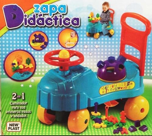 zapatilla andador didactico 2 en 1 new plast july toys