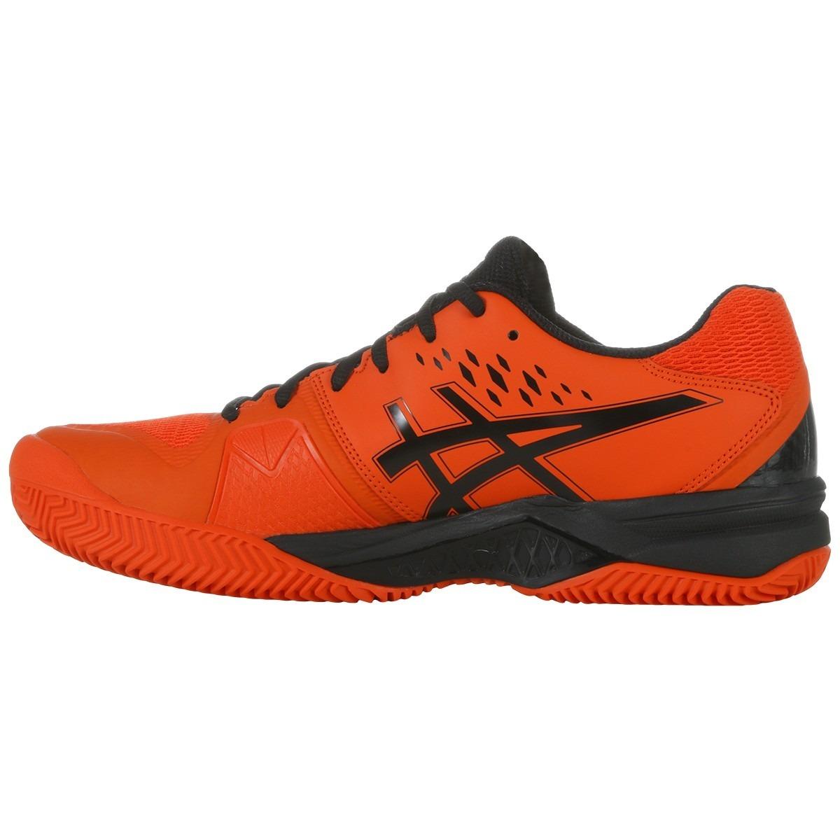 f4f77b7b10d zapatilla asics challenger 12 clay tenis-padel naranja-negro. Cargando zoom.
