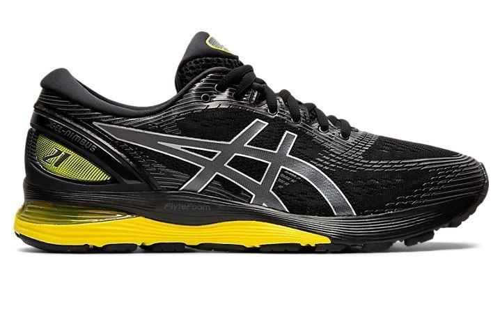 098189c03 Zapatilla Asics Gel Nimbus 21 Negro amarillo Hombre Running ...