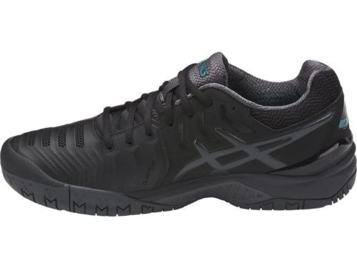 zapatilla asics gel resolution 7 black/grey