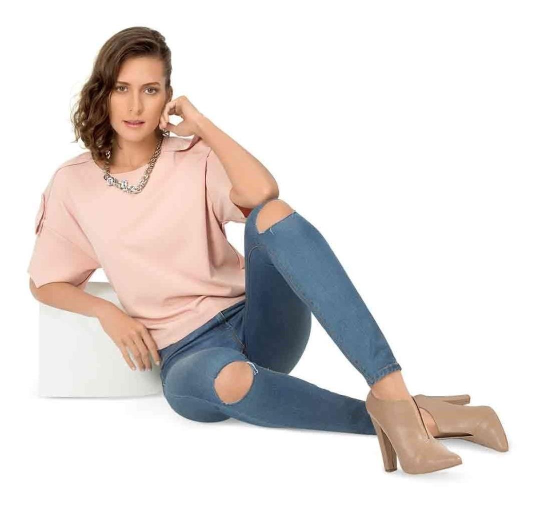 Zapatilla Botin De Vestir Casual Color Piel De Mujer A78bd6