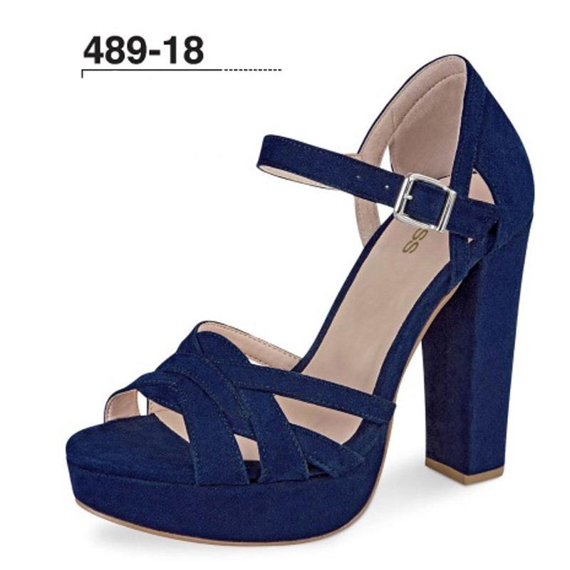c92da630b17 zapatilla color azul marino cklass 489 18 tacon 12cms gamuza. Cargando zoom.