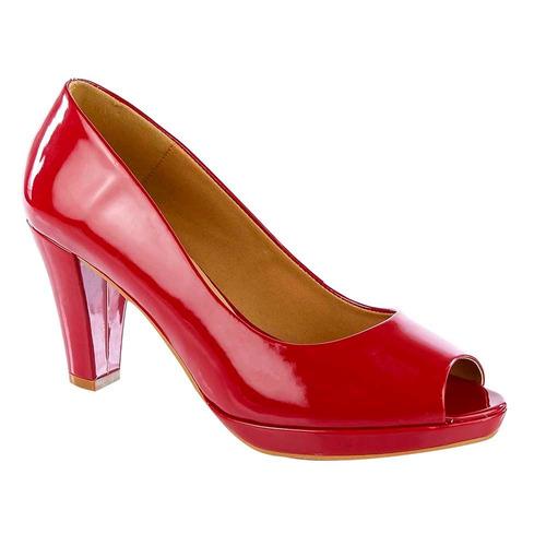zapatilla color rojo boca de pescado 13035