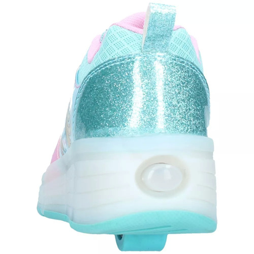 zapatilla con ruedas turquesa barbie dia del niño