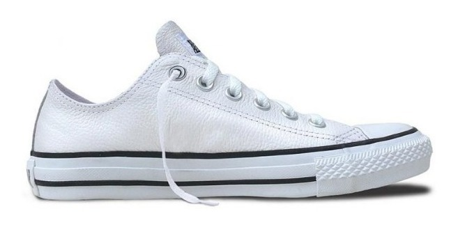 all star converse piel blancas