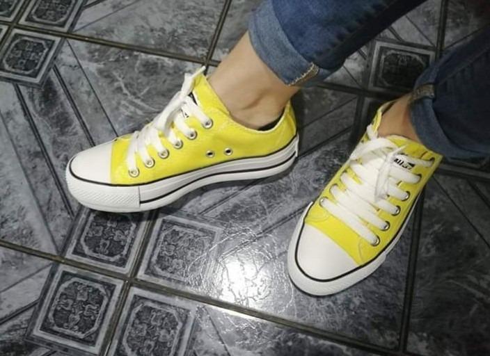 converse amarillas fluor