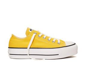 converse amarillas mujer