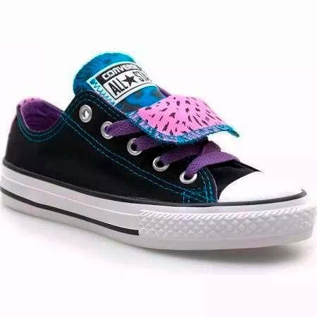 converse doble lengua mujer