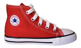 Zapatilla Converse Niño Niña Botita Lona Red(talle 20 Al 26)
