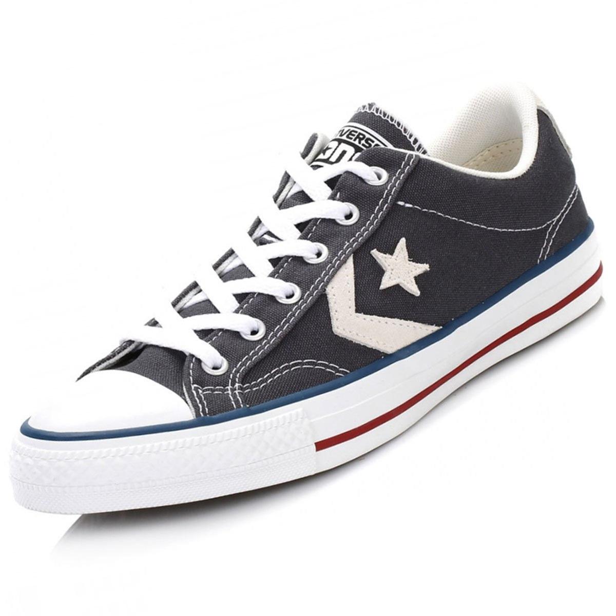 9a3859e51c0f zapatilla converse star player para hombre - plomo y azul. Cargando zoom.