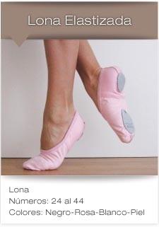 zapatilla danza media punta badana gabardina/lona elastizada
