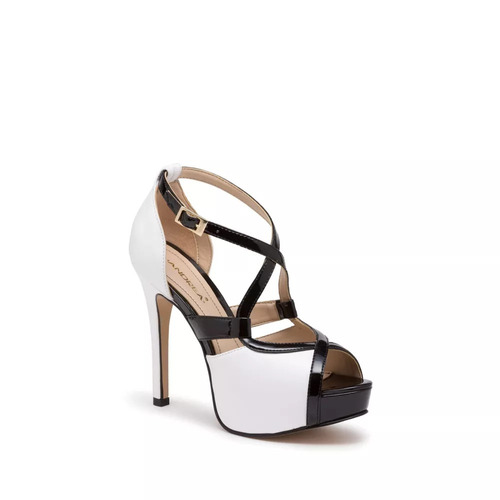 zapatilla de piel ankle strap andrea blanco altura 12.5