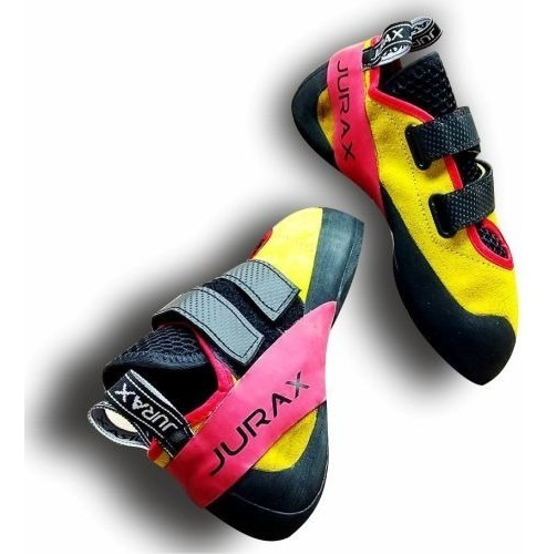 zapatilla escalada pedula yana v2 amarillo/rojo