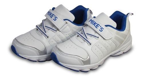 zapatilla escolar niño blanca