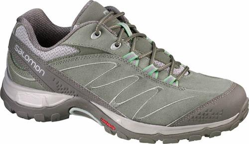 zapatilla femenina salomon- ellipse ltr w verde caqui-hiking