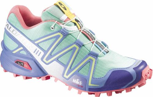 zapatilla femenina salomon- speedcross 3 w morado claro