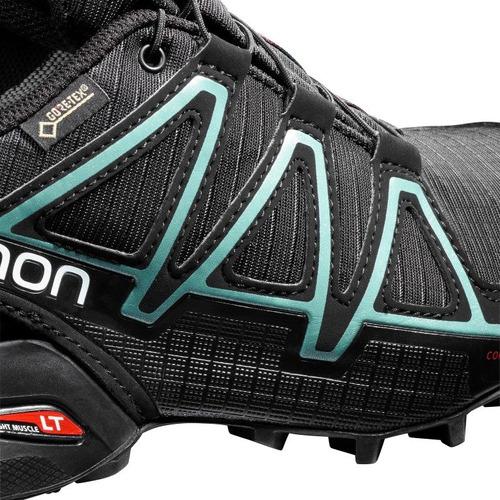 zapatilla femenina salomon-speedcross 4 gtx w negro/celeste