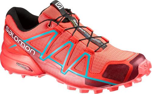 zapatilla femenina salomon- speedcross 4 w coral