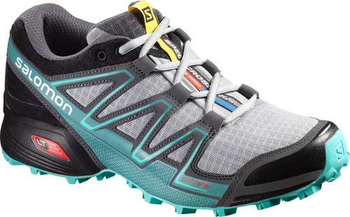 zapatilla femenina salomon -  speedcross vario w gris claro