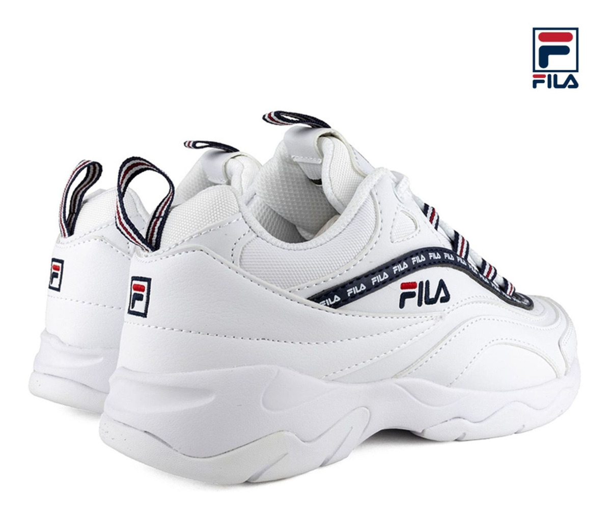 Zapatilla Fila Ray Repeat Para Dama Blanco