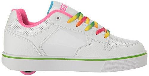 zapatilla heelys girls 'motion plus, blanco / arco iris, 4