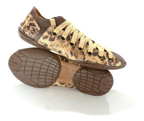 zapatilla hombre. color marrón. diseño viggo by ghilardi.