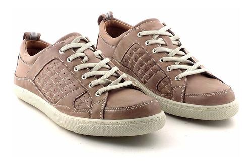 zapatilla hombre cuero briganti zapato goma  - hczp14099