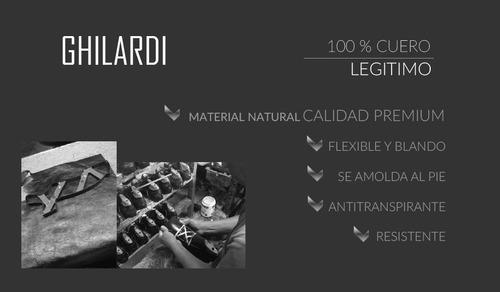 zapatilla hombre cuero vacuno diseño viggo by ghilardi.