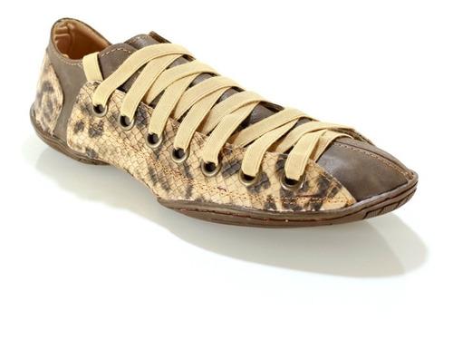 zapatilla hombrecuero color marrón diseño viggo by ghilardi.