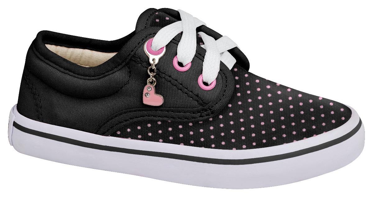 d2267ef41 zapatilla infantil negra rosa caucho niña aplique urban fit. Cargando zoom.